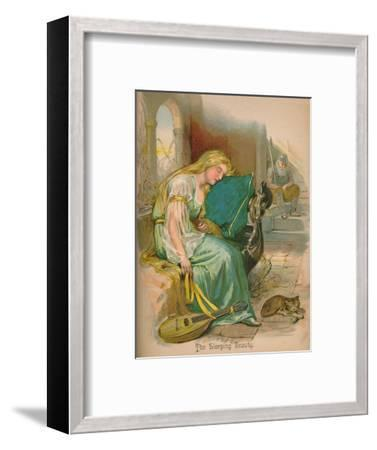 'The Sleeping Beauty', 1903-Unknown-Framed Giclee Print