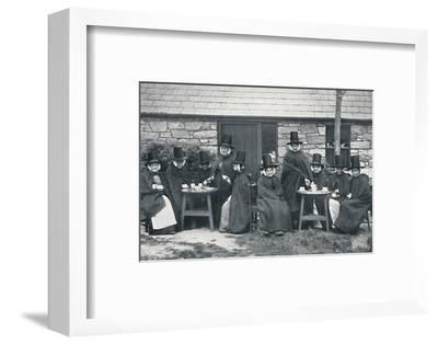 A Welsh tea party, 1912-Unknown-Framed Photographic Print