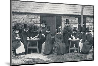 A Welsh tea party, 1912-Unknown-Mounted Photographic Print