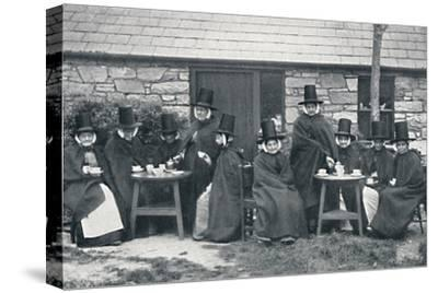 A Welsh tea party, 1912-Unknown-Stretched Canvas Print