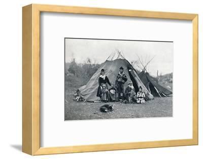 A Lapland encampment, 1912-Unknown-Framed Photographic Print