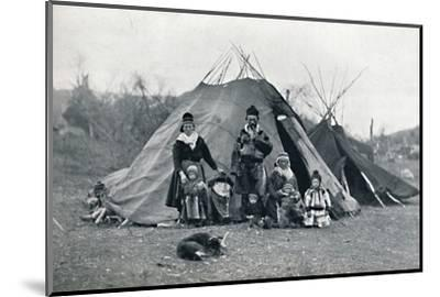 A Lapland encampment, 1912-Unknown-Mounted Photographic Print