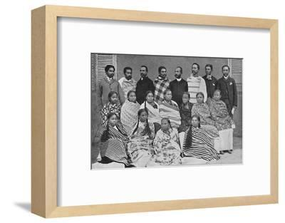 A group of Hova, people of Madagascar, 1912-Unknown-Framed Photographic Print