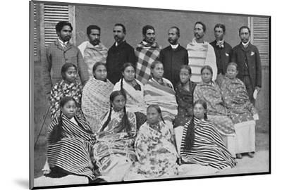 A group of Hova, people of Madagascar, 1912-Unknown-Mounted Photographic Print