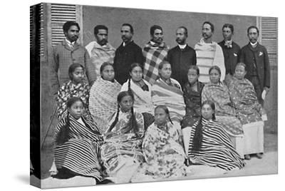 A group of Hova, people of Madagascar, 1912-Unknown-Stretched Canvas Print