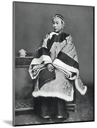 A Chinese lady of high rank in full dress costume, 1902-Unknown-Mounted Photographic Print