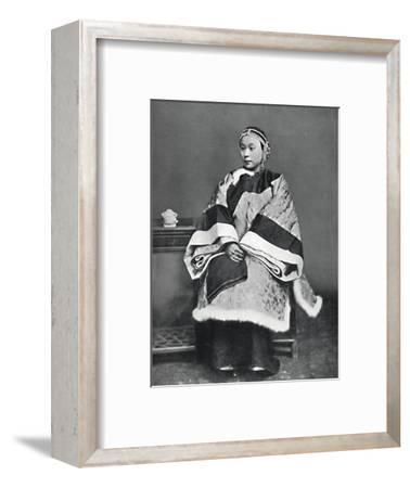 A Chinese lady of high rank in full dress costume, 1902-Unknown-Framed Photographic Print
