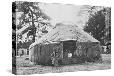 A Kalmyk dwelling and its inhabitants, 1912-Unknown-Stretched Canvas Print