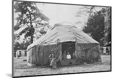 A Kalmyk dwelling and its inhabitants, 1912-Unknown-Mounted Photographic Print