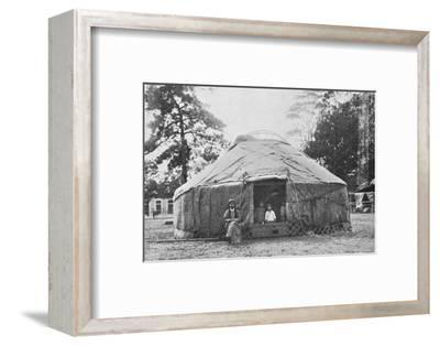 A Kalmyk dwelling and its inhabitants, 1912-Unknown-Framed Photographic Print