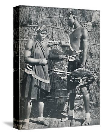 A pair of Zulu lovers, 1912-Unknown-Stretched Canvas Print