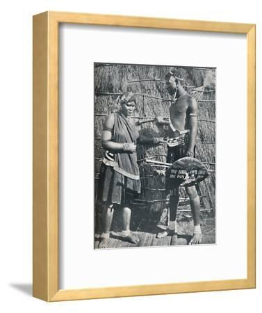 A pair of Zulu lovers, 1912-Unknown-Framed Photographic Print