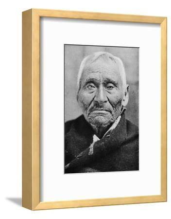 An aged Tlingit Indian of Alaska, 1912-Unknown-Framed Photographic Print