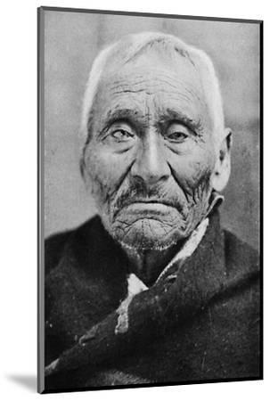 An aged Tlingit Indian of Alaska, 1912-Unknown-Mounted Photographic Print