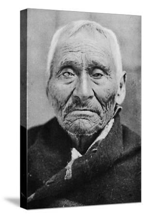 An aged Tlingit Indian of Alaska, 1912-Unknown-Stretched Canvas Print