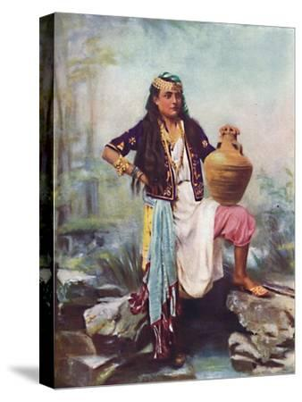 A Syrian girl at a spring, 1902-Unknown-Stretched Canvas Print