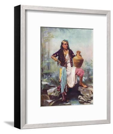 A Syrian girl at a spring, 1902-Unknown-Framed Giclee Print