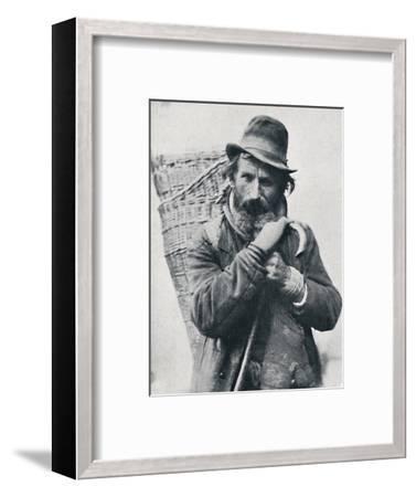 A German street hawker, Ehningen District, Wurttemberg, 1912-E Uhlenhuth-Framed Photographic Print