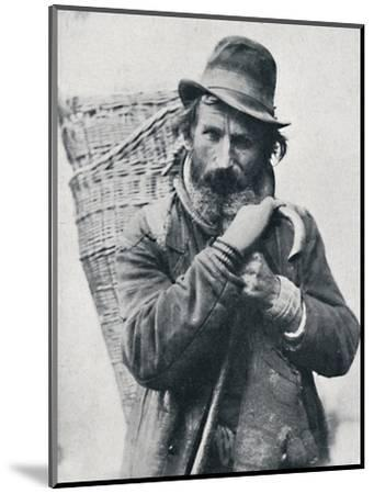 A German street hawker, Ehningen District, Wurttemberg, 1912-E Uhlenhuth-Mounted Photographic Print