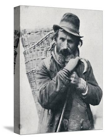 A German street hawker, Ehningen District, Wurttemberg, 1912-E Uhlenhuth-Stretched Canvas Print