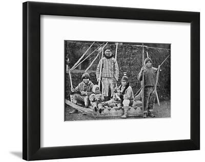 An Eskimo sledging party, 1912-Pierre Petit-Framed Photographic Print