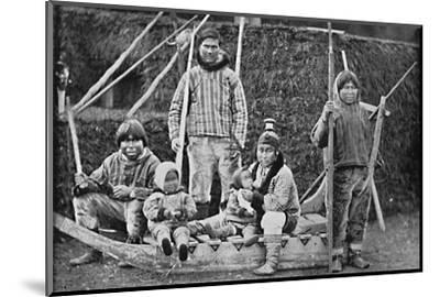 An Eskimo sledging party, 1912-Pierre Petit-Mounted Photographic Print