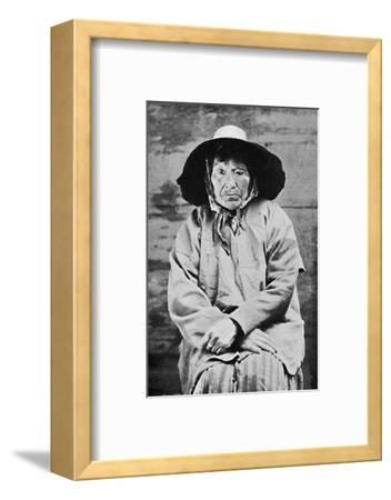 A Tlingit woman of Alaska, 1912-Unknown-Framed Photographic Print