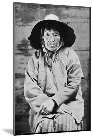 A Tlingit woman of Alaska, 1912-Unknown-Mounted Photographic Print