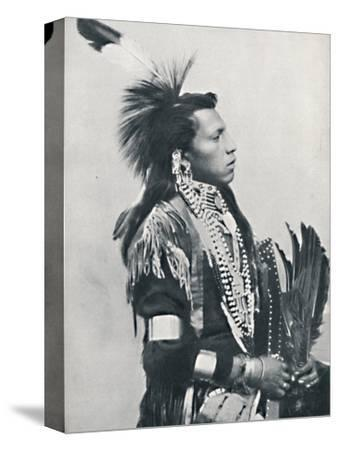 A North American Indian chief (profile), 1912-Unknown-Stretched Canvas Print