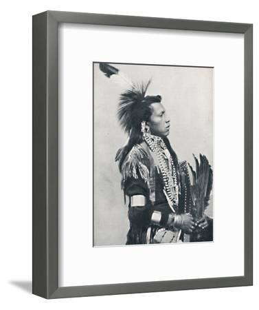A North American Indian chief (profile), 1912-Unknown-Framed Photographic Print