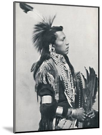 A North American Indian chief (profile), 1912-Unknown-Mounted Photographic Print