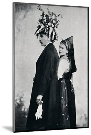 A bride and bridegroom of the Black Forest, 1912-E Uhlenhuth-Mounted Photographic Print
