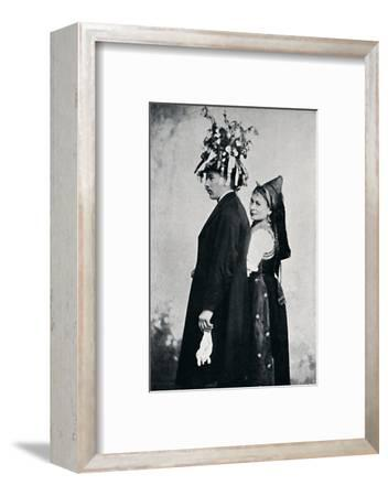 A bride and bridegroom of the Black Forest, 1912-E Uhlenhuth-Framed Photographic Print