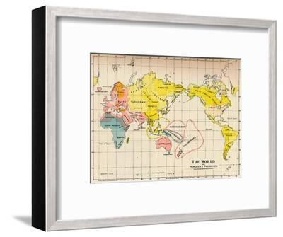 Map of the World on Mercator's Projection, 1902-Unknown-Framed Giclee Print
