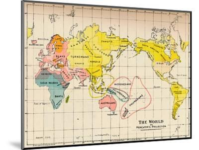 Map of the World on Mercator's Projection, 1902-Unknown-Mounted Giclee Print
