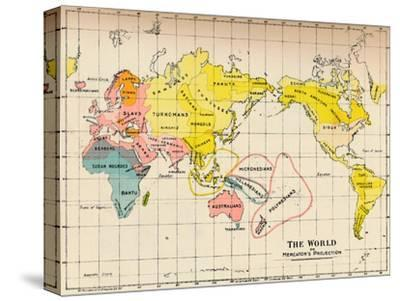 Map of the World on Mercator's Projection, 1902-Unknown-Stretched Canvas Print