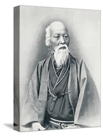 An aged Japanese doctor in full dress costume, 1902-Unknown-Stretched Canvas Print
