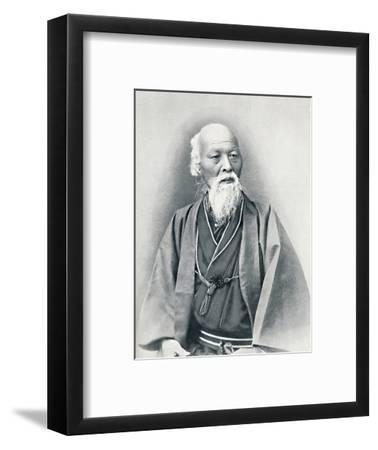An aged Japanese doctor in full dress costume, 1902-Unknown-Framed Photographic Print