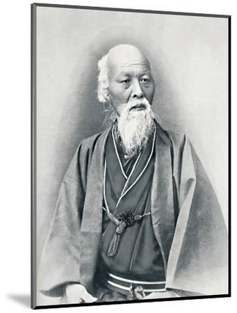 An aged Japanese doctor in full dress costume, 1902-Unknown-Mounted Photographic Print