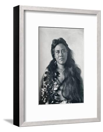 A Hula dancer, Honolulu, Hawaii, 1902-Unknown-Framed Photographic Print