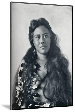 A Hula dancer, Honolulu, Hawaii, 1902-Unknown-Mounted Photographic Print