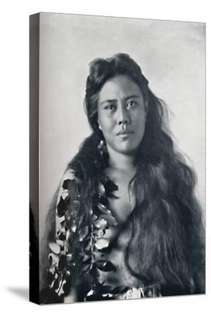 A Hula dancer, Honolulu, Hawaii, 1902-Unknown-Stretched Canvas Print