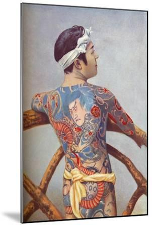 An elaborately tattooed Japanese man, 1902-Unknown-Mounted Giclee Print