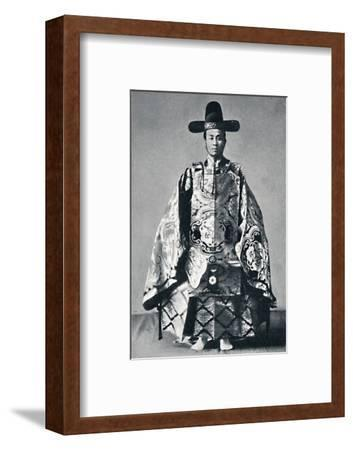 A Japanese court noble in ancient dress, 1902-Unknown-Framed Photographic Print