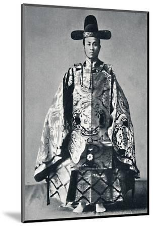A Japanese court noble in ancient dress, 1902-Unknown-Mounted Photographic Print