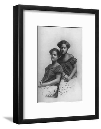Two Fijian princesses with the hair dressed in European style, 1902-Unknown-Framed Photographic Print