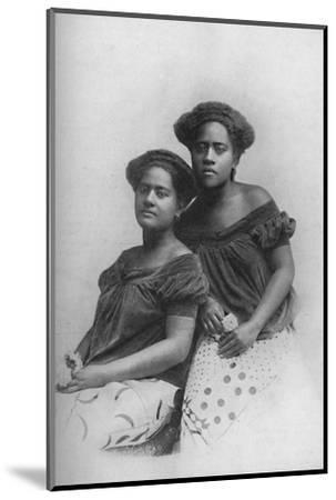 Two Fijian princesses with the hair dressed in European style, 1902-Unknown-Mounted Photographic Print