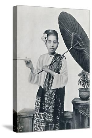 A Burmese lady, 1902-Unknown-Stretched Canvas Print