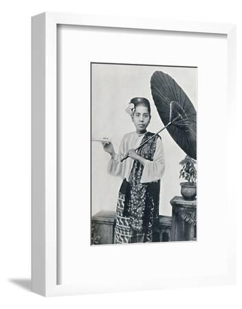 A Burmese lady, 1902-Unknown-Framed Photographic Print