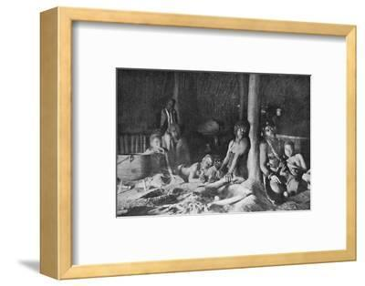 Interior of a Zulu hut, 1912-Unknown-Framed Photographic Print